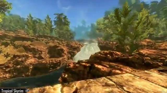 "The Elder Scrolls V: Skyrim ""Tropical Mod"" (Video)"