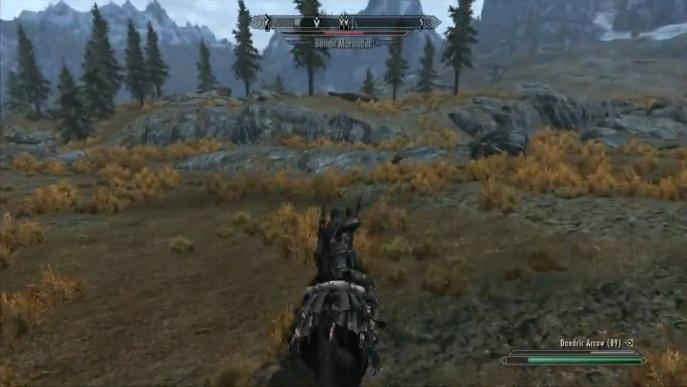 Skyrim Mounted Combat Gameplay (Video)