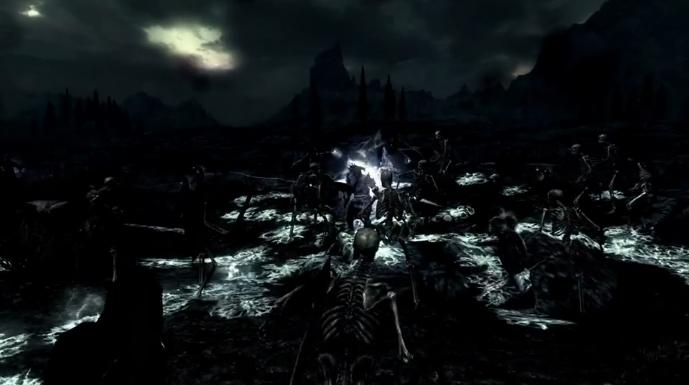 TES 5 Skyrim: Game like skeleton (Video)